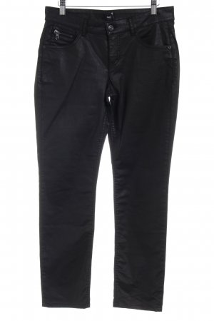 MAC Jeans Hüfthose schwarz Casual-Look