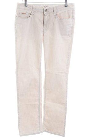 MAC Jeans Hüftjeans hellbeige Casual-Look