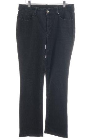 MAC Jeans Jeans taille basse noir-gris foncé moucheté style décontracté