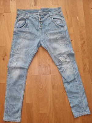 MAC Jeans Jeansy typu boyfriend jasnoniebieski