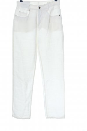 MAC Jeans Leinenhose weiß Casual-Look