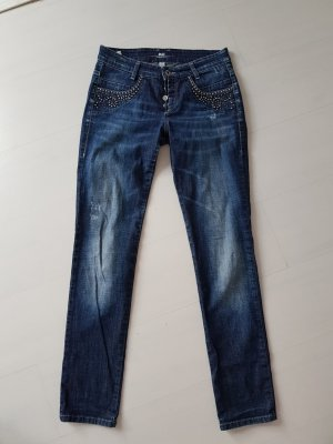 Mac Pantalón de cinco bolsillos azul Algodón