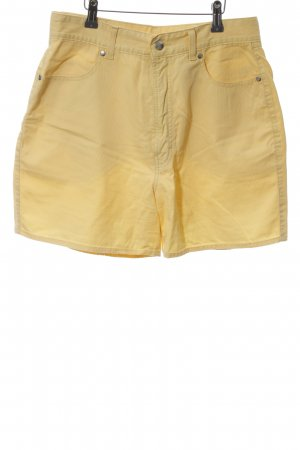 MAC Jeans Shorts blassgelb Casual-Look