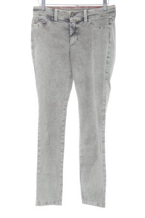 MAC Jeans Skinny Jeans grau Used-Optik