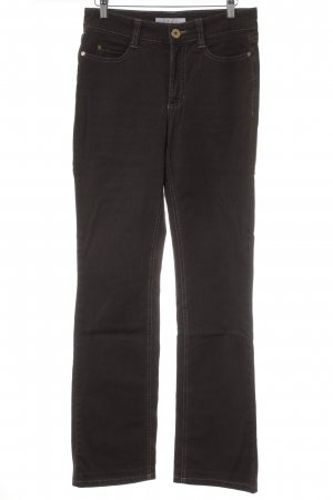 MAC Jeans Slim Jeans braun Logo-Applikation aus Leder