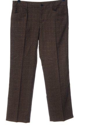 MAC Jeans Stoffhose schwarz-braun Allover-Druck Business-Look