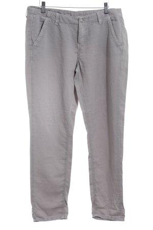 MAC Jeans Stoffhose hellgrau Metallknöpfe