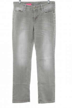 MAC Jeans Straight-Leg Jeans hellgrau Casual-Look