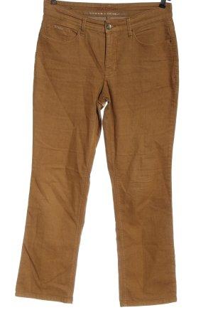 MAC Jeans Jeansy z prostymi nogawkami brązowy W stylu casual