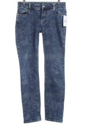 MAC Jeans Straight-Leg Jeans blau Allover-Druck Casual-Look