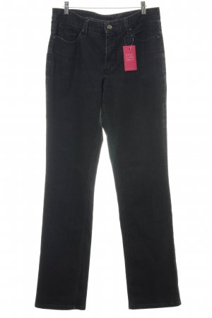 MAC Jeans Straight-Leg Jeans schwarz Casual-Look