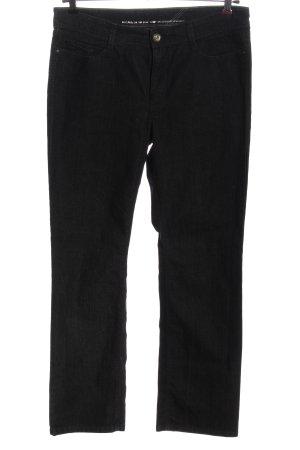MAC Jeans Jeansy z prostymi nogawkami czarny W stylu casual
