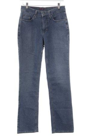 MAC Jeans Straight-Leg Jeans stahlblau Jeans-Optik
