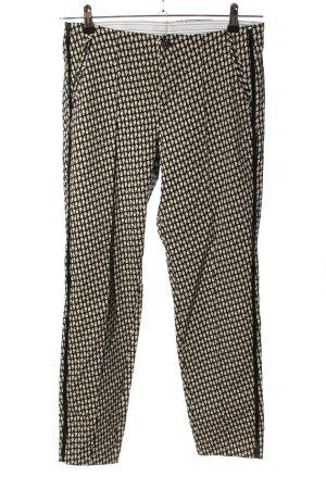MAC Jeans Stretchhose schwarz-creme Allover-Druck Casual-Look