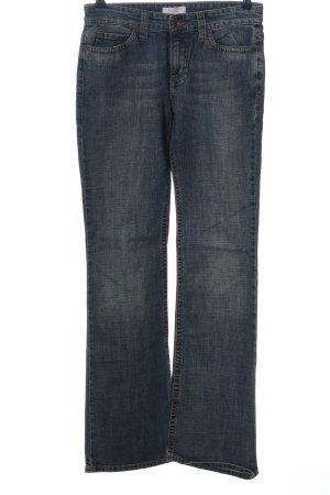 Mac Jeansowe spodnie dzwony niebieski W stylu casual