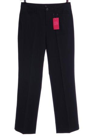 Mac Pantalón de pinza alto negro estilo «business»