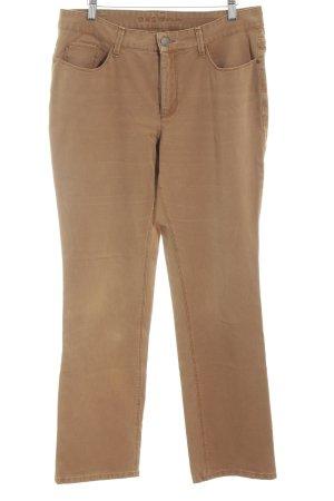 Mac Pantalón de pinza alto marrón look casual