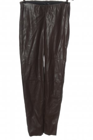 Mac Leather Trousers brown casual look