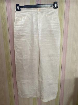 Mac Pantalon en lin blanc