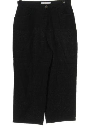 Mac Pantalone di lino nero stile casual