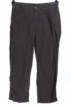 Mac Pantalón de lino gris claro look casual