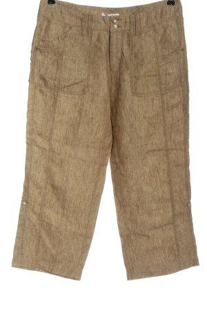 Mac Pantalone di lino marrone stile casual
