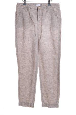 Mac Pantalone di lino grigio chiaro stile casual