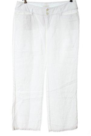 Mac Pantalón de lino blanco look casual
