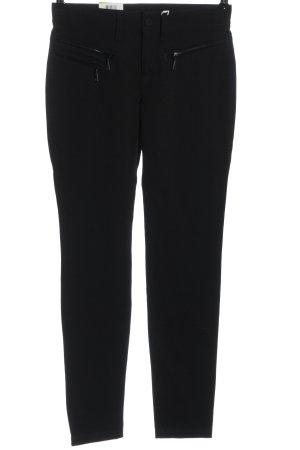 Mac Pantalón de tubo negro look casual