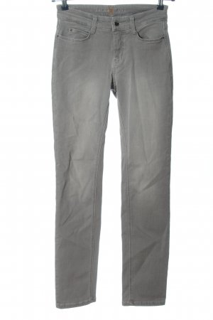 Mac Jeans cigarette gris clair style décontracté