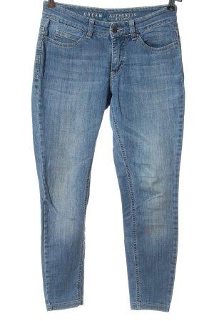 Mac Jeansy o obcisłym kroju niebieski W stylu casual
