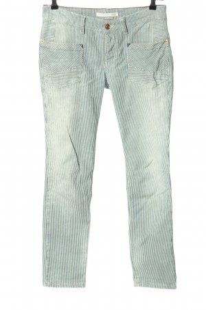 Mac Slim Jeans blue-white allover print casual look