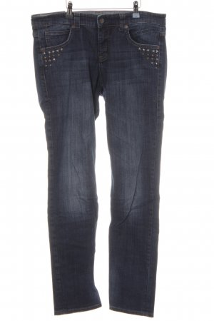 Mac Slim Jeans stahlblau Jeans-Optik