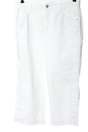 Mac Pantalone jersey bianco stile casual