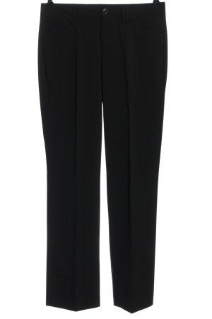 Mac Spodnie materiałowe czarny W stylu biznesowym