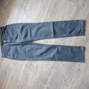 Mac Jeansy z prostymi nogawkami czarny-antracyt Bawełna
