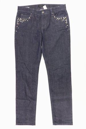 MAC Straight Jeans Größe 40/L34 mit Nieten blau aus Baumwolle