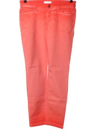 Mac Jeans a gamba dritta arancione chiaro stile casual