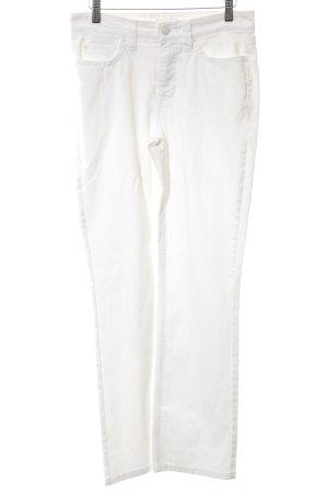 Mac Jeansy z prostymi nogawkami biały W stylu casual