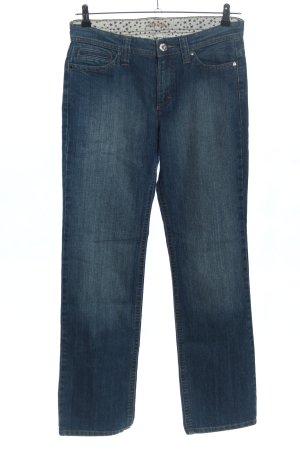 Mac Jeans a gamba dritta blu stile casual