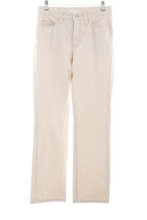Mac Straight Leg Jeans cream casual look