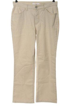 Mac Jeansy z prostymi nogawkami kremowy W stylu casual