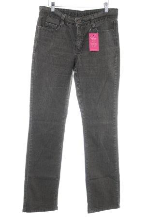 Mac Jeansy z prostymi nogawkami ciemnobrązowy W stylu casual