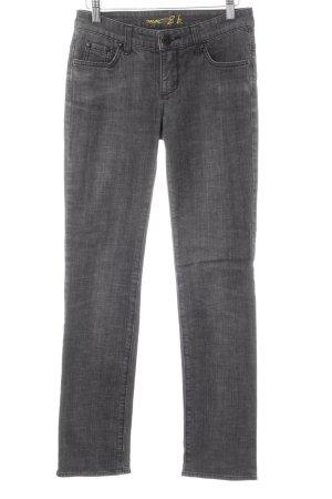 Mac Jeansy z prostymi nogawkami ciemnoszary Wydrukowane logo W stylu casual