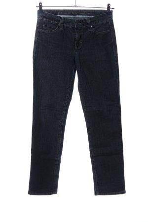 Mac Jeansy z prostymi nogawkami niebieski W stylu casual