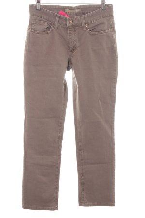 Mac Jeansy z prostymi nogawkami szaro-brązowy W stylu casual