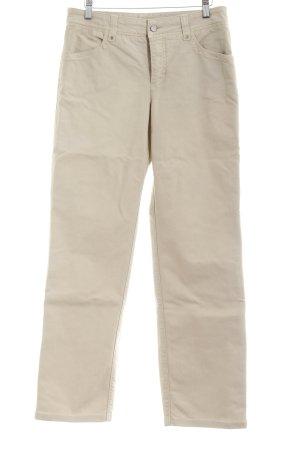 Mac Jeansy z prostymi nogawkami jasnobeżowy Prosty styl