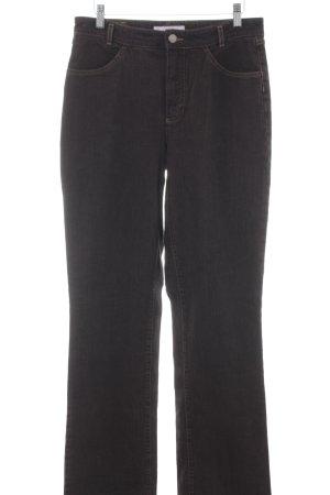Mac Jeans a gamba dritta marrone-nero stile casual
