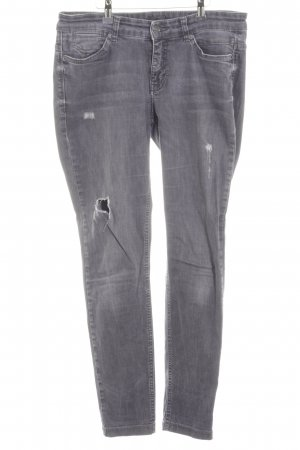 Mac Stretch Jeans grau Logo-Applikation