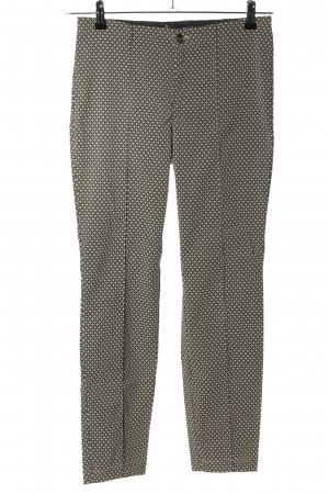Mac Pantalón elástico negro-blanco estampado con diseño abstracto look casual